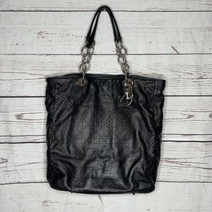 Auth Dior Cannage Quilted Leather Bag w/COA!